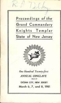 PROCEEDINGS GRAND COMMANDERY KNIGHTS TEMPLAR STATE NEW JERSEY 1981
