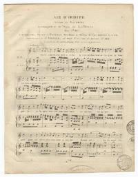 Air d'Oedipe .. Accompagnement de Piano par Lachnith