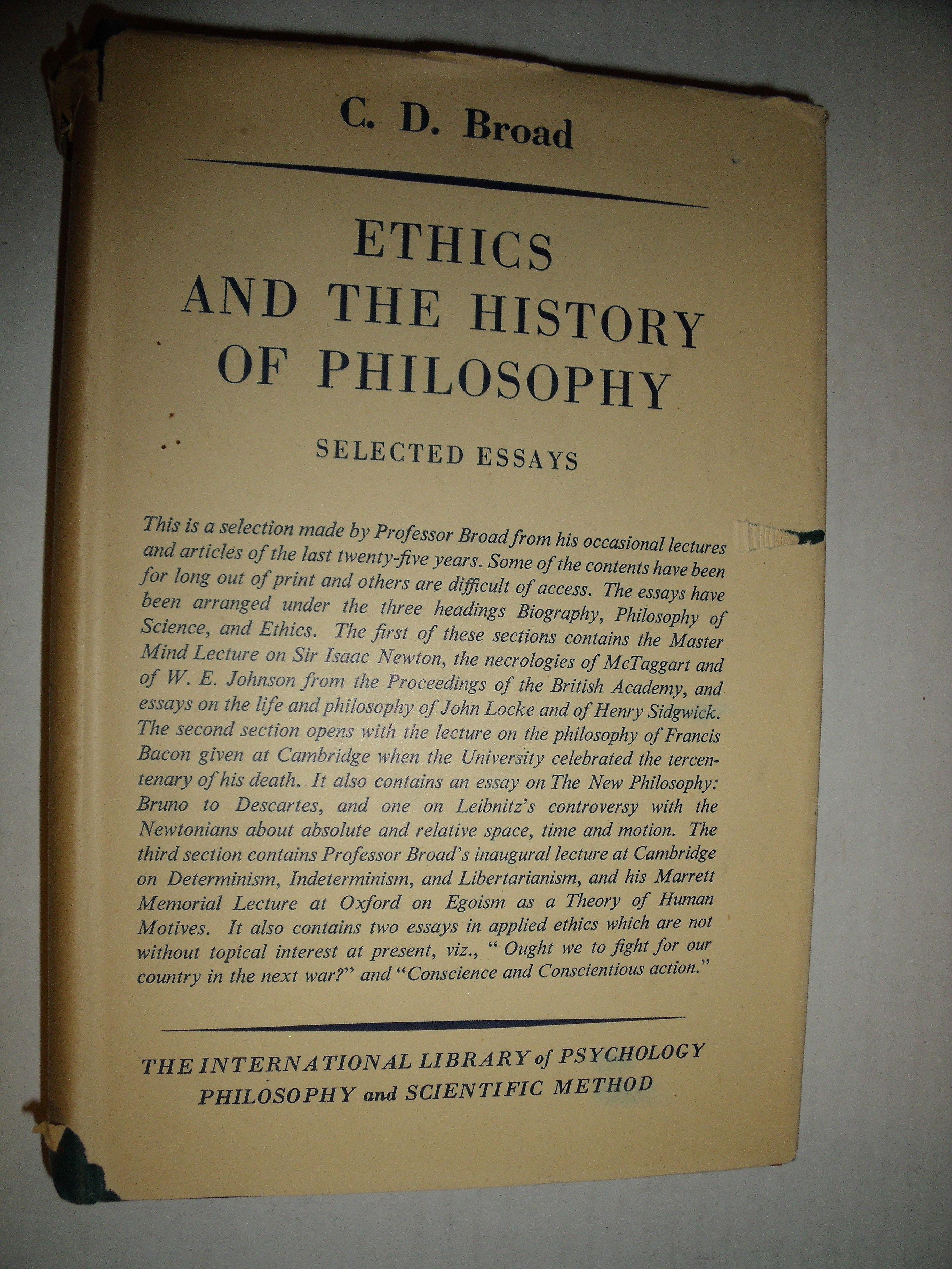 philosophy essays history ethics Encuentra ethics and the history of philosophy: selected essays: volume 13 (international library of philosophy) de cd broad (isbn: 9780415225304) en amazon.