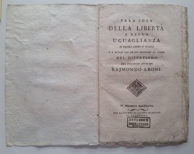Bologna: Per le Stampe di Jacopo Marsigli ai Celestini, 1797. Contemporary blue paper wrappers. Owne...