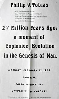 Poster for a Lecture on Palaeo-Anthropology