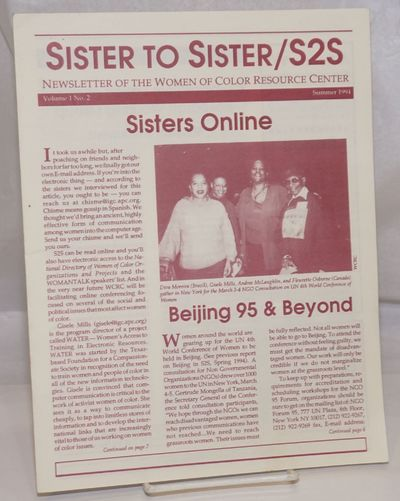 Oakland: Women of Color Resource Center, 1994. 7p., self-wraps secured by folding, 8.5 x 11 inches, ...