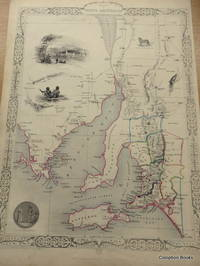 Map of South Australia (Adelaide). With vignettes by H. Warren and engraved by J. Rogers.