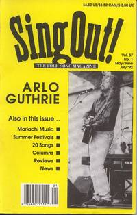 Sing Out! The Folk Song Magazine. Vol. 37, No. 2. Aug/Sept/Oct '92