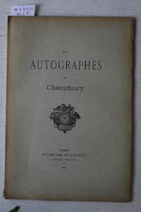 Vente 29 Janvier 1891 : Les Autographes De La Collection Champfleury