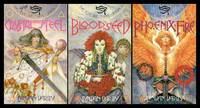 THE EYE OF TIME:  Book (1) One: Crystal and Steel; Book (2) Two: Bloodseed; Book (3) Three: Phoenix Fire