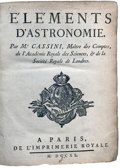 Elements d'Astronomie; [with:] Tables...