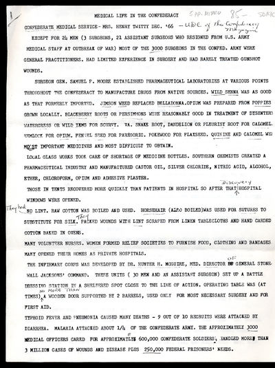 UDC of the Confederacy Magazine, 1966. Unbound. Loose sheets. 5pp. Fine. Photocopy of an article wit...