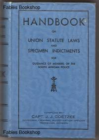 HANDBOOK ON UNION STATUTE LAWS AND SPECIMEN INDICTMENTS