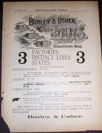 An Original 1890 Full Page Advertisement for Burley and Usher Shoe Company
