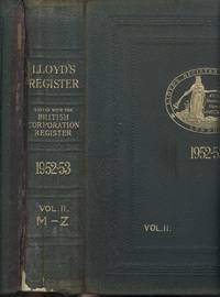 Lloyd's Register of Shipping 1952-53 - Vol II. Shipowners M-Z