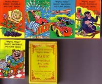 """image of 5 """"Mighty Midget"""" Magic Invisible Picture Books, Housed in Original 2 Section Box."""