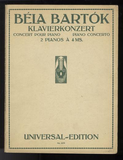Wien-Leipzig: Universal Edition A.G. , 1928. Quarto. Original publisher's light green wrappers print...