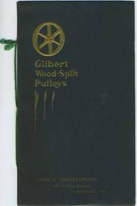 image of Gilbert Wood-Split Pulleys advertising pamphlet