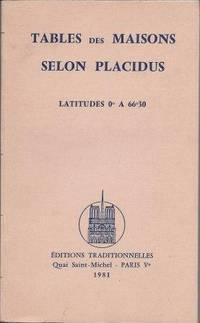 Tables des Maisons selon Placidus Latitudes 0° à 66°30