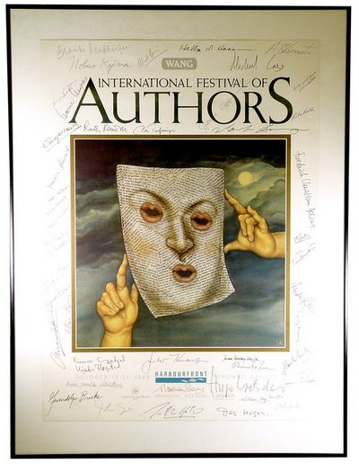 1989. Promotional poster for the annual Toronto literary festival, which each year since 1980 brough...