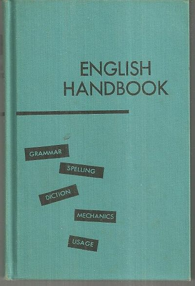 ENGLISH HANDBOOK, Bailey, Matilda and Gunnar Horn