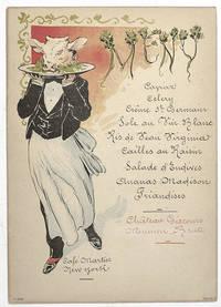 Enrico Caruso Signed Pri Fixe Menu.
