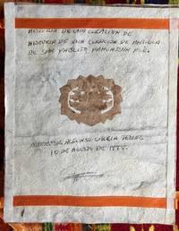 Historia de la curacion de antigua, de San Pablito, Pahuatlan, Pue.