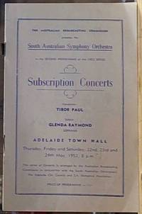 image of South Australian Symphony Orchestra; Subscription Concerts, 1952