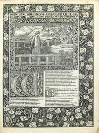 Cancel proof bifolium from the Kelmscott Chaucer