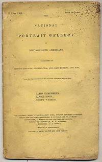 The National Portrait Gallery of Distinguished Americans: David Humphreys, Daniel Boon, Joseph Warren [printed wrapper title]