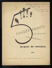5 Fingerprints (Cinq empreintes) [Solo piano]. Inscribed by the composer