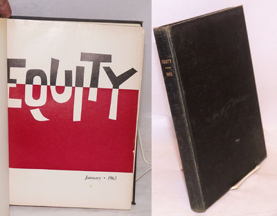 New York: Actors' Equity Association, 1963. Ten issues, 8.5x11 inches, illus., one signature pulled,...