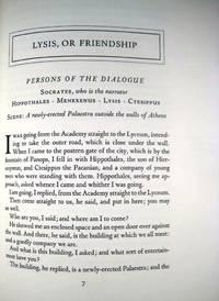 LYSIS, OR FRIENDSHIP. THE SYMPOSIUM. PHAEDRUS