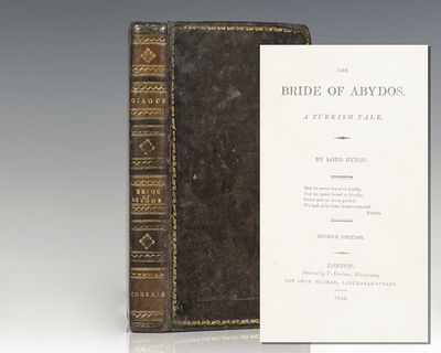 London: John Murray, 1813. First trade edition, first issue of Byron's The Giaour; bound with a seco...