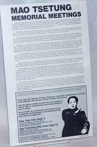 Mao Tsetung Memorial Meetings [handbill]