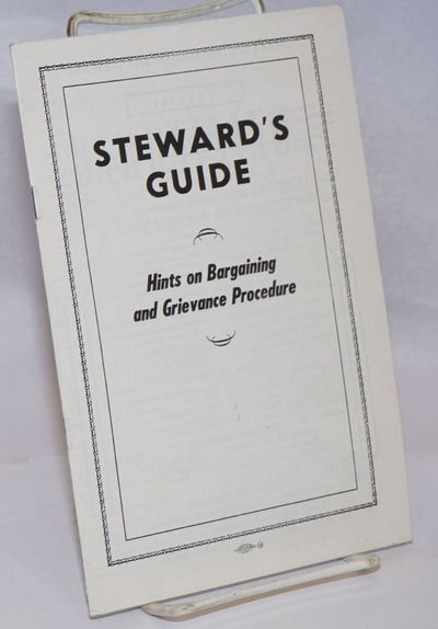 Detroit: UAW, . 22p., staplebound booklet, very good, illustrated with cartoons.