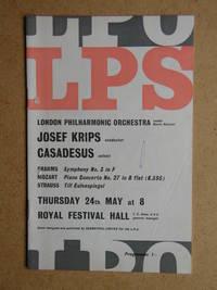 London Philharmonic Orchestra. Concert Programme.