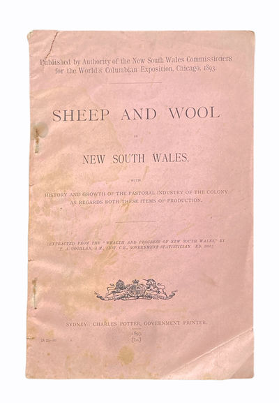 Sydney: Charles Potter, Government Printer, 1893. Very good. First separate edition (initially publi...