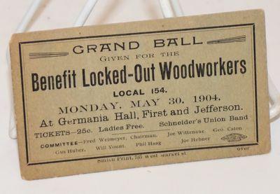 : Amalgamated Wood Workers International Union of America, 1904. Small 2.6x4.25 card, slightly edgew...