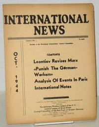 International news, theoritical organ of the International Contact Commission, Oct. 1944, vol. 6, no. 9
