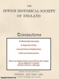 I. A., 1858 1925. A rare original article from the Jewish Historical Society of England