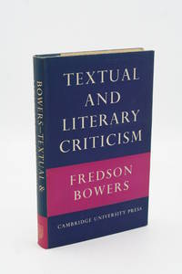 Textual and Literary Criticism.