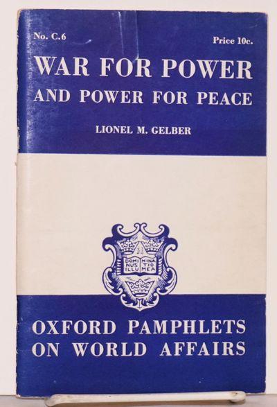Toronto: Oxford University Press, 1940. Pamphlet. 40p., softbound pamphlet in stapled 7x4.5 inch wra...