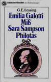 Emilia Galotti: Ein Trauerspiel; Miss Sara Sampson: Ein bürgerliches Trauerspiel; Philotas: Ein Trauerspiel