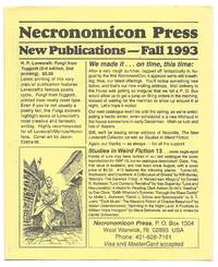 Necronomicon Press: New Publications: Fall 1993