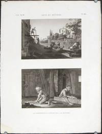 Arts et Metiers. 1. Le Charpentier et le Scieur de Long. 2. Le Menuisier. by PROFESSIONS) Conte (del). Schroeder (sculpt) - No date. Ca. 1820. - from oldimprints.com and Biblio.com