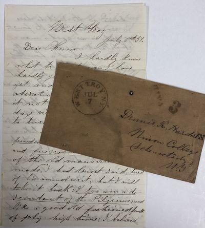 Very Good. ALS by N. G. Spalding written to his friend Dennis Harder of Schenectady, New York in 185...