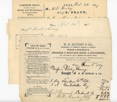 Utica, NY: Bennett, Backus, Hawley & Fuller, 1837-1849. Letter folds and edge wear. Irregular edge H...