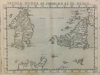 Tavola Nuova di Sardigna et di Sicilia; Sardinia and Sicily