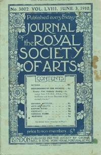 image of Journal of the Royal Society of Arts, Friday, June 3, 1910, No. 3002, Vol. LVIII