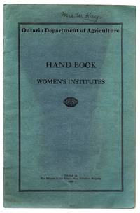 Hand Book For The Use of Women's Institutes in Ontario