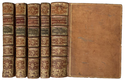 Paris:: Pierre Gandouin, 1734, 1729-1741., 1734. Mixed issues. Seven parts in five . 4to. xvii, , 49...
