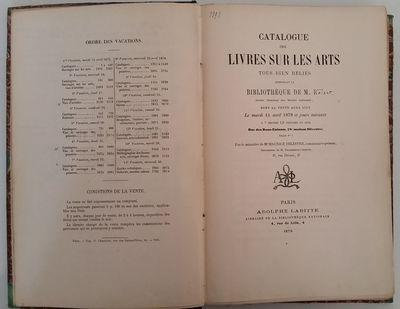 Paris: Adolphe Labitte, 1879. 8vo. 255 x 170 mm. (10 x 6 1/2 inches). iv, 260, pp. Contemporary marb...