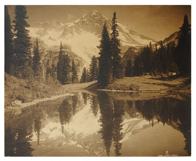 """Seattle: 1911. Large photograph, 18 x 14"""", sepia toned silver print mounted on cardboard and trimm..."""